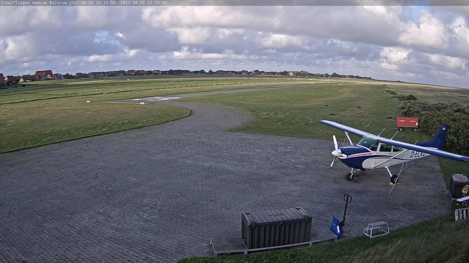 Baltrum Flugplatz und Airport Webcam